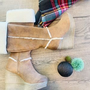 Sbicca wedge boots